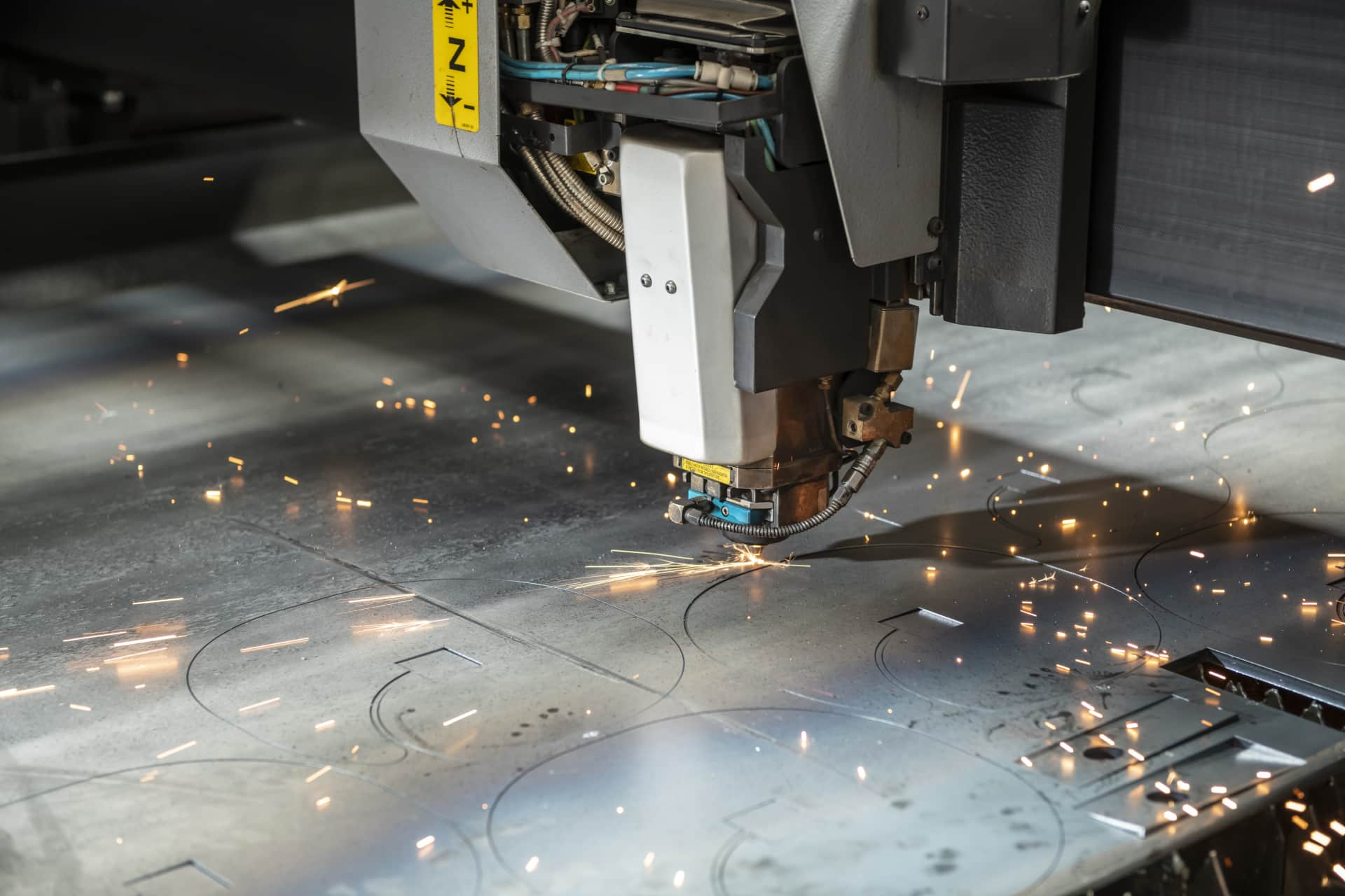 Automated Laser Cutting Machine - In use