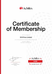 Achilles - Qualified UVDB Certificate of Registration